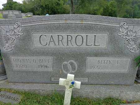 """CARROLL, THOMAS O """"BLUE"""" - Lewis County, Tennessee 
