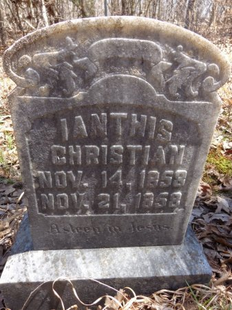 CHRISTIAN, LANTHIS - Lewis County, Tennessee | LANTHIS CHRISTIAN - Tennessee Gravestone Photos