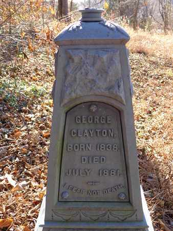 CLAYTON, GEORGE - Lewis County, Tennessee   GEORGE CLAYTON - Tennessee Gravestone Photos