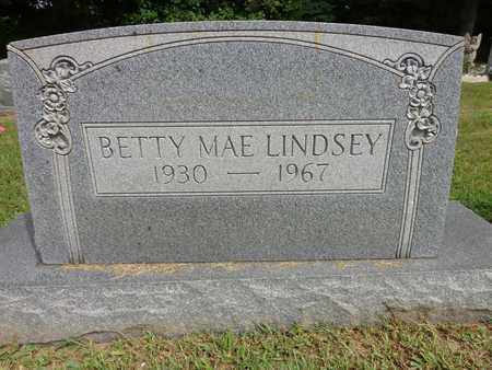 LINDSEY, BETTY MAE - Lewis County, Tennessee   BETTY MAE LINDSEY - Tennessee Gravestone Photos
