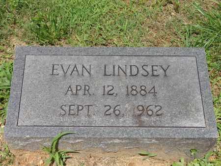 LINDSEY, EVAN - Lewis County, Tennessee   EVAN LINDSEY - Tennessee Gravestone Photos