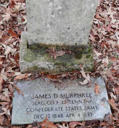 MURPHREE  (VETERAN CSA), JAMES D - Lewis County, Tennessee | JAMES D MURPHREE  (VETERAN CSA) - Tennessee Gravestone Photos