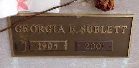 SUBLETT, GEORGIA E - Lewis County, Tennessee | GEORGIA E SUBLETT - Tennessee Gravestone Photos