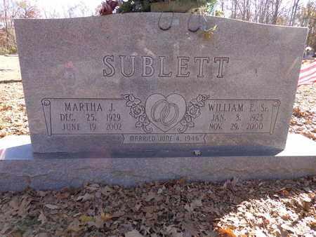SUBLETT, WILLIAM E. (SR.) - Lewis County, Tennessee | WILLIAM E. (SR.) SUBLETT - Tennessee Gravestone Photos