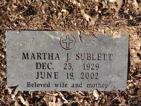 SUBLETT, MARTHA J. - Lewis County, Tennessee | MARTHA J. SUBLETT - Tennessee Gravestone Photos