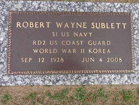 SUBLETT, ROBERT WAYNE - Lewis County, Tennessee | ROBERT WAYNE SUBLETT - Tennessee Gravestone Photos