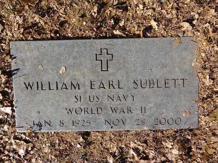 SUBLETT, WILLIAM EARL - Lewis County, Tennessee | WILLIAM EARL SUBLETT - Tennessee Gravestone Photos