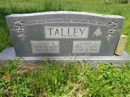 TALLEY, JENNIE H - Lewis County, Tennessee | JENNIE H TALLEY - Tennessee Gravestone Photos