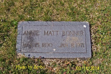 BONNER, ANNIE MATT - Lincoln County, Tennessee | ANNIE MATT BONNER - Tennessee Gravestone Photos