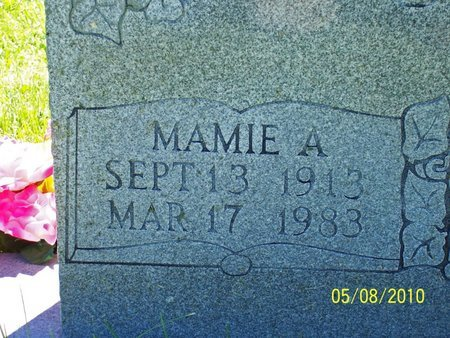 CASTEEL, MAMIE A. (CLOSE UP) - Lincoln County, Tennessee   MAMIE A. (CLOSE UP) CASTEEL - Tennessee Gravestone Photos