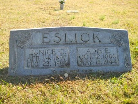 ESLICK, ADIE EDGAR - Lincoln County, Tennessee | ADIE EDGAR ESLICK - Tennessee Gravestone Photos