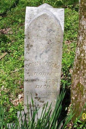 KIMES, JOHN - Lincoln County, Tennessee   JOHN KIMES - Tennessee Gravestone Photos