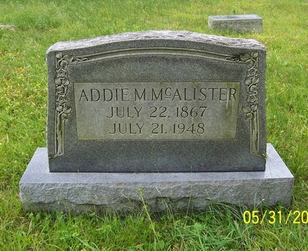 MCALISTER, ADDIE M. - Lincoln County, Tennessee | ADDIE M. MCALISTER - Tennessee Gravestone Photos