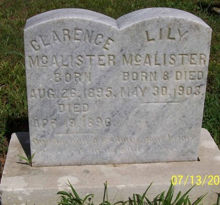 MCALISTER, CLARENCE - Lincoln County, Tennessee | CLARENCE MCALISTER - Tennessee Gravestone Photos