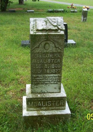 MCALISTER, EDNA KATHERINE - Lincoln County, Tennessee   EDNA KATHERINE MCALISTER - Tennessee Gravestone Photos