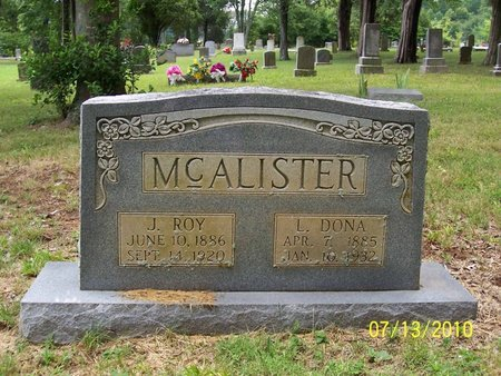 MCALISTER, J. ROY - Lincoln County, Tennessee | J. ROY MCALISTER - Tennessee Gravestone Photos