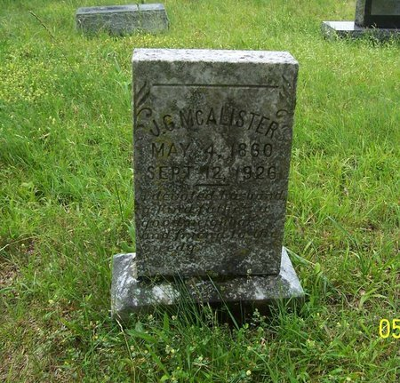 MCALISTER, J. G. - Lincoln County, Tennessee | J. G. MCALISTER - Tennessee Gravestone Photos
