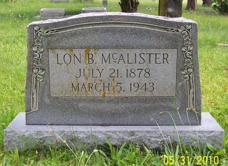 MCALISTER, LON B. - Lincoln County, Tennessee | LON B. MCALISTER - Tennessee Gravestone Photos