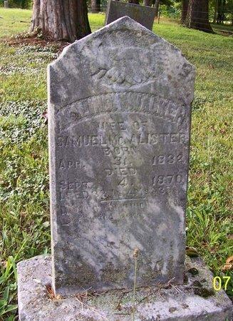 WALKER MCALISTER, MELINDA - Lincoln County, Tennessee | MELINDA WALKER MCALISTER - Tennessee Gravestone Photos