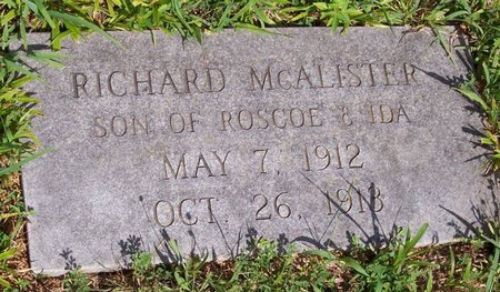 MCALISTER, RICHARD - Lincoln County, Tennessee | RICHARD MCALISTER - Tennessee Gravestone Photos