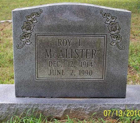 MCALISTER, ROY L. - Lincoln County, Tennessee   ROY L. MCALISTER - Tennessee Gravestone Photos
