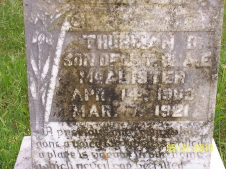 MCALISTER, THURMAN - Lincoln County, Tennessee | THURMAN MCALISTER - Tennessee Gravestone Photos