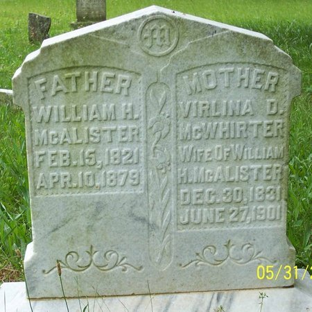 MCALISTER, VIRLINA D. - Lincoln County, Tennessee | VIRLINA D. MCALISTER - Tennessee Gravestone Photos