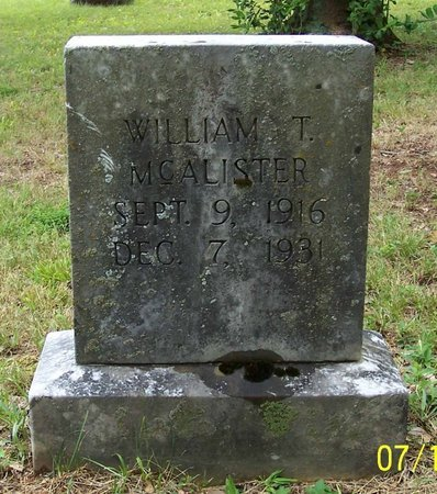 MCALISTER, WILLIAM T. - Lincoln County, Tennessee | WILLIAM T. MCALISTER - Tennessee Gravestone Photos