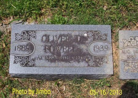 POWELL, OLIVER D. - Lincoln County, Tennessee   OLIVER D. POWELL - Tennessee Gravestone Photos