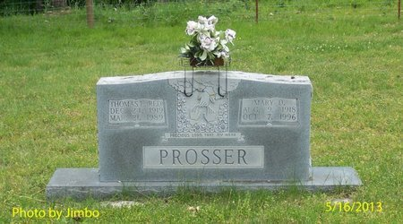 """PROSSER, THOMAS L. """"RED"""" - Lincoln County, Tennessee   THOMAS L. """"RED"""" PROSSER - Tennessee Gravestone Photos"""