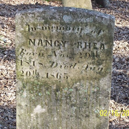 WHITAKER RHEA, NANCY - Lincoln County, Tennessee | NANCY WHITAKER RHEA - Tennessee Gravestone Photos