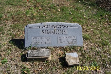 SIMMONS, MARY MODENA - Lincoln County, Tennessee | MARY MODENA SIMMONS - Tennessee Gravestone Photos