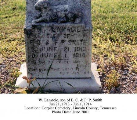 SMITH, W LAMACIE - Lincoln County, Tennessee | W LAMACIE SMITH - Tennessee Gravestone Photos