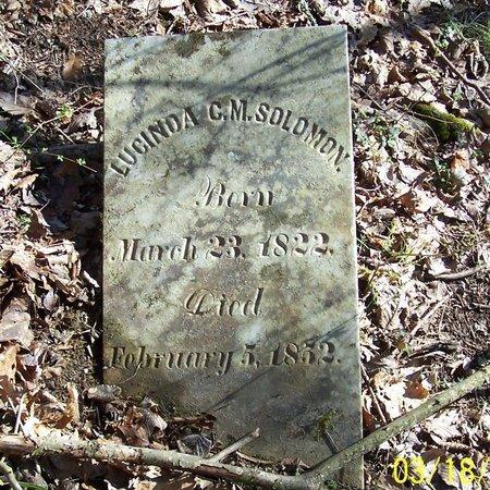 SOLOMON, LUCINDA C. M. - Lincoln County, Tennessee | LUCINDA C. M. SOLOMON - Tennessee Gravestone Photos