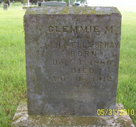 """SPRAY, CLEMENT """"CLEMMIE"""" - Lincoln County, Tennessee 