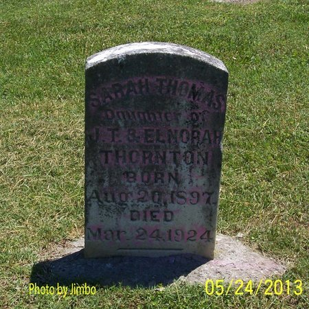 THORNTON, SARAH THOMAS - Lincoln County, Tennessee | SARAH THOMAS THORNTON - Tennessee Gravestone Photos