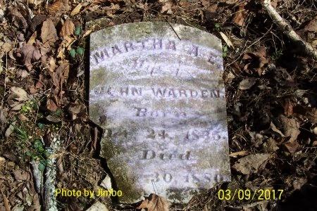 WARDEN, MARTHA ANN ELIZABETH - Lincoln County, Tennessee | MARTHA ANN ELIZABETH WARDEN - Tennessee Gravestone Photos