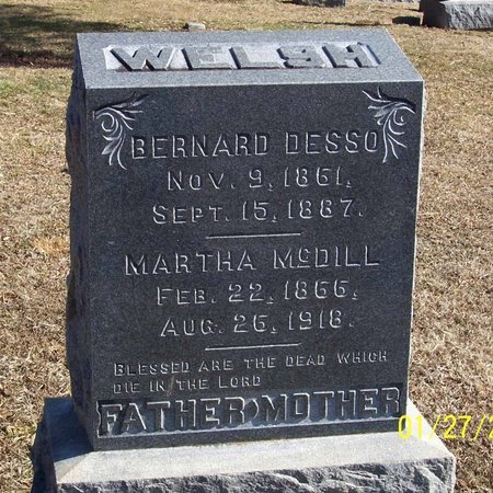 MCDILL WELSH, MARTHA - Lincoln County, Tennessee | MARTHA MCDILL WELSH - Tennessee Gravestone Photos