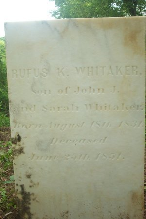WHITAKER, RUFUS K. - Lincoln County, Tennessee | RUFUS K. WHITAKER - Tennessee Gravestone Photos