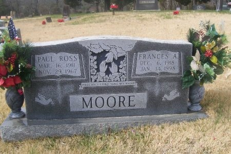 MOORE, FRANCES A. - Loudon County, Tennessee | FRANCES A. MOORE - Tennessee Gravestone Photos