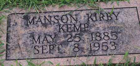 KEMP, MANSON KIRBY - Macon County, Tennessee | MANSON KIRBY KEMP - Tennessee Gravestone Photos