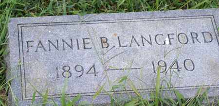 LANGFORD, FANNIE B. - Macon County, Tennessee | FANNIE B. LANGFORD - Tennessee Gravestone Photos