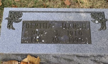 MARSH, BERTHA - Macon County, Tennessee | BERTHA MARSH - Tennessee Gravestone Photos