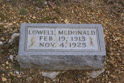 MCDONALD, LOWELL - Macon County, Tennessee | LOWELL MCDONALD - Tennessee Gravestone Photos