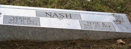 NASH, VERNIE - Macon County, Tennessee   VERNIE NASH - Tennessee Gravestone Photos