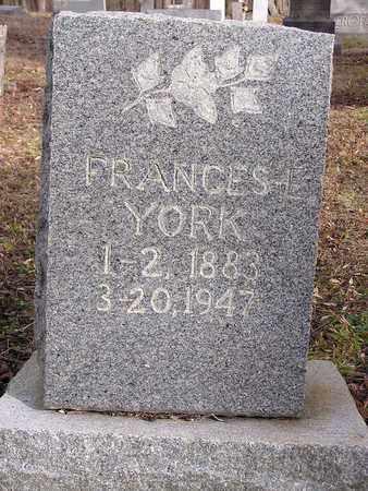 YORK, FRANCES E. - Macon County, Tennessee | FRANCES E. YORK - Tennessee Gravestone Photos