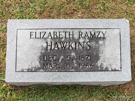 RAMZY HAWKINS, ELIZABETH - Madison County, Tennessee | ELIZABETH RAMZY HAWKINS - Tennessee Gravestone Photos