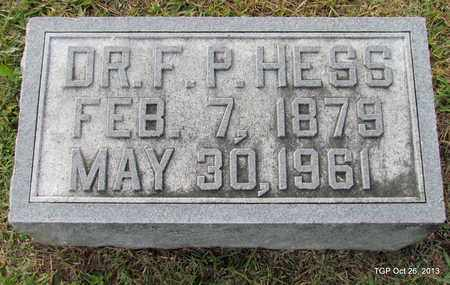 HESS, F. P. (DR.) - Madison County, Tennessee   F. P. (DR.) HESS - Tennessee Gravestone Photos