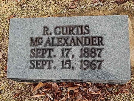 MCALEXANDER, R CURTIS - Madison County, Tennessee | R CURTIS MCALEXANDER - Tennessee Gravestone Photos