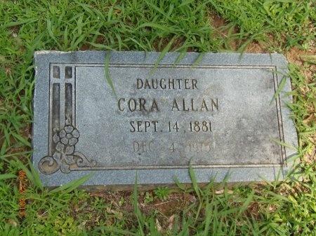 ALLAN, CORA - Marion County, Tennessee | CORA ALLAN - Tennessee Gravestone Photos